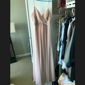 Blush long dress; size 12 (more like size 6 or 8)